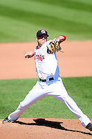 Pitcher Pat Light (21) of the Portland Sea Dogs during a game versus the Reading Fightin Phils at Hadlock Field in Portland, Maine on May 24, 2015.  (Ken Babbitt/Four Seam Images)