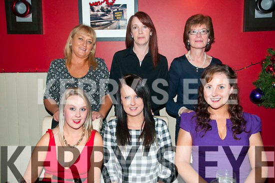 Christmas Party: Staff from the Centra Store, Listowel enjoying their Christmas party at Eabha Joan's Restaurant, Listowel on Friday night last. Front : Danielle Wilmot, Stephanie Meehan & Imelda McKenna, Back : Madeline Collins, Betty Kelly & Mary O'Donoghue.