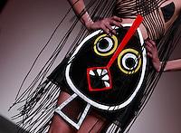 Una modella veste una creazione della collezione Primavera Estate 2014 di Gianni Molaro durante la rassegna Altaroma, a Roma, 26 gennaio 2014.<br /> A model wears a creation by Gianni Molaro's 2014 Spring Summer collection at the Altaroma fashion week in Rome, 26 January 2014.<br /> UPDATE IMAGES PRESS/Isabella Bonotto