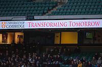 Cambridge University signage during the 131st Varsity Match between Oxford University and Cambridge University at Twickenham on Thursday 06 December 2012 (Photo by Rob Munro)