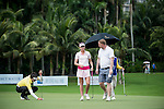 Paula Creamer and David May during the World Celebrity Pro-Am 2016 Mission Hills China Golf Tournament on 23 October 2016, in Haikou, Hainan province, China. Photo by Marcio Machado / Power Sport Images