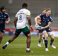 21st March 2021; AJ Bell Stadium, Salford, Lancashire, England; English Premiership Rugby, Sale Sharks versus London Irish; Connor Doherty of Sale Sharks passes the ball