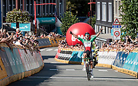 solo victory by Italian Champion Sonny Colbrelli (ITA/Bahrain - Victorious) into Houffalize <br /> <br /> 17th Benelux Tour 2021<br /> Stage 6 from Ottignies/Louvain-la-Neuve to Houffalize (BEL/208km)<br /> <br /> ©kramon