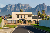 South Africa, Cape Town, Athlone Suburb. Private Home, Table Mountain in Background.