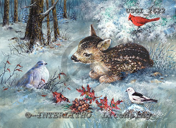 GIORDANO, CHRISTMAS ANIMALS, WEIHNACHTEN TIERE, NAVIDAD ANIMALES, paintings+++++,USGI2622,#XA#