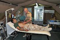 - military field hospital inside the Italian base camp Mittica ....- ospedale militare da campo all'interno della base italiana camp Mittica
