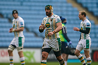 6th February 2021; Ricoh Arena, Coventry, West Midlands, England; English Premiership Rugby, Wasps versus Northampton Saints; Shaun Adendorff of Northampton Saints gives a thumbs up to his team mates after scoring the first try in the 22nd minute for a 8-0 lead