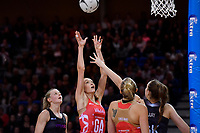 England's Helen Housby in action during the International Netball - NZ Silver Ferns v England Roses at Te Rauparaha Arena, Porirua, New Zealand on Thursday 7 September 2017.<br /> Photo by Masanori Udagawa. <br /> www.photowellington.photoshelter.com