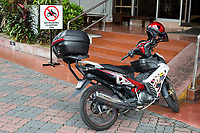Motorcycle Parked in a No-parking Zone, Ipoh, Malaysia.