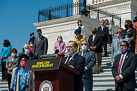 United States Representative Jerrold Nadler (Democrat of New York), Chairman, US House Judiciary Committee offers remarks while she is joined by other members of Congress on the House steps of the US Capitol, for a press conference ahead of the vote on the George Floyd Justice in Policing Act of 2020 in Washington, DC., Thursday, June 25, 2020. <br /> Credit: Rod Lamkey / CNP/AdMedia