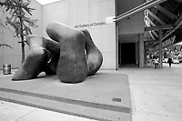 Toronto (ON) CANADA - July 2012 - Art Gallery of Ontario on Dundas street.:  LARGE TWO FORMS sculpture by henry Moore