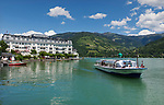 Oesterreich, Salzburger Land, Pinzgau, Zell am See: Grand Hotel Zell am See, Schiffsanlegestelle | Austria, Salzburger Land, Pinzgau, Zell at Zeller Lake: Grand Hotel Zeller Lake, sightseeing boat landing stage