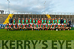 The Mid Kerry team before the Kerry County Senior Football Championship Semi-Final match between Mid Kerry and Dr Crokes at Austin Stack Park in Tralee, Kerry.