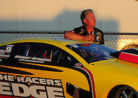 Jul, 9, 2011; Joliet, IL, USA: NHRA pro stock driver Rodger Brogdon during qualifying for the Route 66 Nationals at Route 66 Raceway. Mandatory Credit: Mark J. Rebilas-