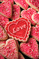 Heart shaped Valentine cookies