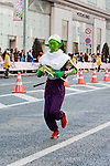 Feb. 27, 2010 - Tokyo, Japan - A runner wearing a unique elf outfit races through the Ginza district part of town during the Tokyo Marathon. Some 36,000 runners participated in this fifth edition of the Tokyo Marathon.
