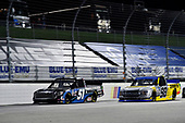 #51: Brandon Jones, Kyle Busch Motorsports, Toyota Tundra Magick Woods Vanities and #98: Grant Enfinger, ThorSport Racing, Ford F-150 Champion/Curb Records