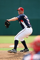 Stephen Strasburg #37 of the Washington Nationals makes his professional pitching debut in an Instructional League game against the Detroit Tigers at Space Coast Stadium October 5, 2009 in Viera, Florida.  Strasburg pitched two innings, allowing one run on three hits while being limited to 40 pitches.  Photo By Mike Janes/Four Seam Images
