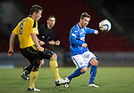 St Johnstone v Livingston.....30.11.13     Scottish Cup Fourth Round<br /> Chris Millar and Burton O'Brian<br /> Picture by Graeme Hart.<br /> Copyright Perthshire Picture Agency<br /> Tel: 01738 623350  Mobile: 07990 594431