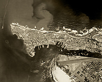 "historical aerial photograph of San Juan, Puerto Rico and the Fernando Luis Ribas Dominicci ""Isla Grande"" Airport, 1962"