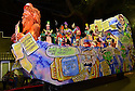 The Krewe D'Etat parade and its satirical float Big Foot rollsl in New Orleans on Friday, Feb. 24, 2017. (AFP/CHERYL GERBER)