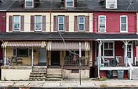 Urban row homes.