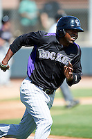 Colorado Rockies minor league outfielder Francisco Sosa #21 during an instructional league game against the San Francisco Giants at the Salt River Flats Complex on October 4, 2012 in Scottsdale, Arizona.  (Mike Janes/Four Seam Images)