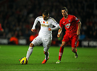 Saturday 10 November 2012<br /> Pictured L-R: Itay Shechter of Swansea marked by Morgan Schneiderlin of Southampton. <br /> Re: Barclay's Premier League, Southampton FC v Swansea City FC at St Mary's Stadium, Southampton, UK.