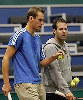 6-2-10, Rotterdam, Tennis, ABNAMROWTT, First quallifying round, Thiemo de Bakker en Dennis Schenk