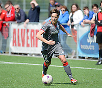 20140419 - ANTWERPEN , BELGIUM : Standards Maud Coutereels pictured during the soccer match between the women teams of RAFC Antwerp Ladies  and Standard Femina  , on the 24th matchday of the BeNeleague competition on Saturday 19 April 2014 in Deurne .  PHOTO DAVID CATRY