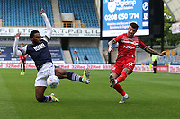 Marvin Johnson of Middlesbrough and Mahlon Romeo of Millwall during Millwall vs Middlesbrough, Sky Bet EFL Championship Football at The Den on 8th July 2020
