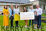 The Coffey family presents the proceeds of the Michelle McLaughlin, Marie Murphy Leona Twiss, Tara Leanne, Paudie and Mike Coffey