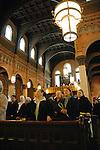 Parishioners attending service at Transfiguration R.C. Church in Williamsburg Brooklyn, New York.