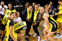 Parris Mason and Whitney Souness of the Pulse, ANZ Premiership Netball - Te Wānanga o Raukawa Pulse v Northern Mystics at TSB Bank Arena, Wellington, New Zealand on Monday 10 May 2021.<br /> Photo by Masanori Udagawa. <br /> www.photowellington.photoshelter.com