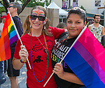 Diane and Isabell during the Pride Parade in downtown Reno on Saturday, July 28, 2018.