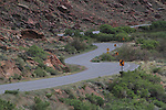 Highway 128 winds along the Colorado River near Moab, Utah, USA.