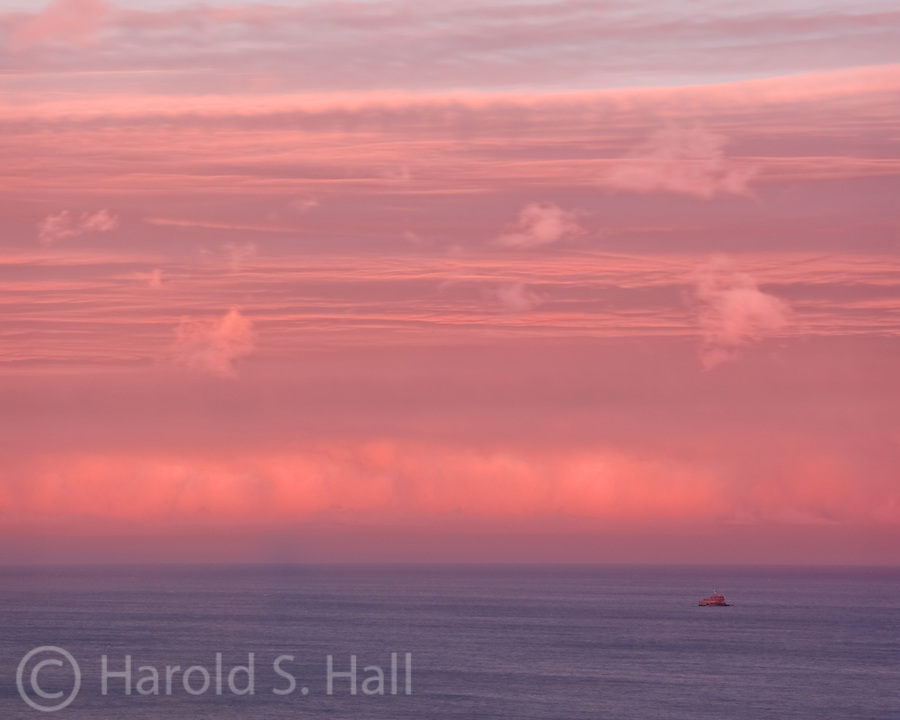 Beautiful colors and textures from a sunset over Lake Michigan.