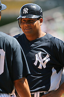 March 17th 2008:  Bobby Abreu of the New York Yankees during a Spring Training game at Legends Field in Tampa, FL.  Photo by:  Mike Janes/Four Seam Images