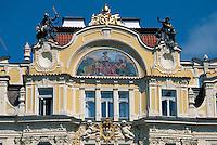 Hausdetail am Altstädter Ring (Staromestske Namesti), Prag, Tschechien, Unesco-Weltkulturerbe