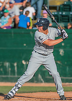 31 July 2016: Connecticut Tigers infielder Josh Lester in action against the Vermont Lake Monsters at Centennial Field in Burlington, Vermont. The Lake Monsters edged out the Tigers 4-3 in NY Penn League action.  Mandatory Credit: Ed Wolfstein Photo *** RAW (NEF) Image File Available ***