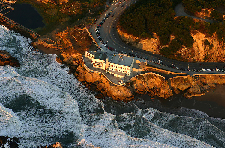 October 29, 2005; San Francisco, CA, USA; Aerial view of the Cliff House restaurant and Sutro Baths in the Golden Gate National Recreation Area along the coast of San Francisco, CA. Photo by: Phillip Carter