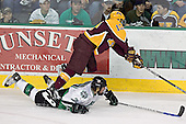 TJ Oshie, Ben Gordon - The University of Minnesota Golden Gophers defeated the University of North Dakota Fighting Sioux 4-3 on Friday, December 9, 2005, at Ralph Engelstad Arena in Grand Forks, North Dakota.