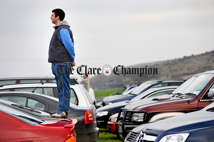 Getting a good vantage point at the Point to Point in Bellharbour. Photograph by John Kelly.