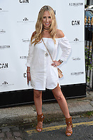Naomie Isted<br /> arrives for the Amy Childs Summer Collection show at Beach Blanket Babylon, Notting Hill, London.<br /> <br /> <br /> ©Ash Knotek  D3129  06/06/2016