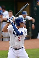 Ogden Raptors Alex Santana (21) at bat against the Missoula Osprey at Lindquist Field on July 17, 2013 in Ogden Utah. (Stephen Smith/Four Seam Images)