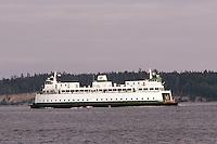 A Washington State ferry makes it's way from Bremerton to Seattle, Washington.