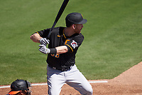 Pittsburgh Pirates Todd Frazier (99) bats during a Major League Spring Training game against the Baltimore Orioles on February 28, 2021 at Ed Smith Stadium in Sarasota, Florida.  (Mike Janes/Four Seam Images)