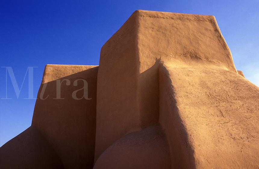 USA, New Mexico, Ranchos de Taos. Church of Saint Francis of Assisi
