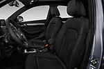 Front seat view of 2018 Audi Q3  2.0T-FWD-tiptronic-Premium-Plus  5 Door SUV front seat car photos