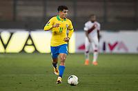 13th October 2020; National Stadium of Peru, Lima, Peru; FIFA World Cup 2022 qualifying; Peru versus Brazil;  Philippe Coutinho of Brazil